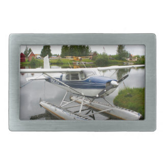 White & navy float plane, Alaska Rectangular Belt Buckle