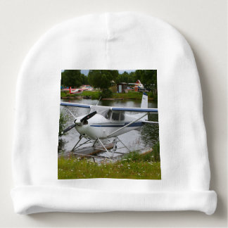White, navy & grey float plane, Alaska Baby Beanie