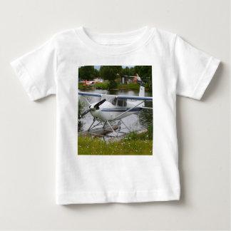 White, navy & grey float plane, Alaska Baby T-Shirt