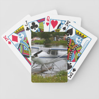 White, navy & grey float plane, Alaska Bicycle Playing Cards