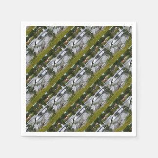 White, navy & grey float plane, Alaska Paper Napkin