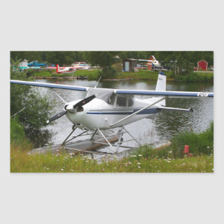 White, navy & grey float plane, Alaska Sticker