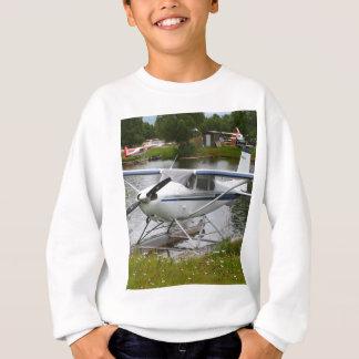 White, navy & grey float plane, Alaska Sweatshirt