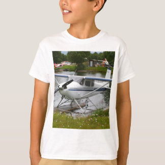 White, navy & grey float plane, Alaska T-Shirt