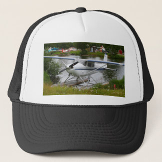 White, navy & grey float plane, Alaska Trucker Hat