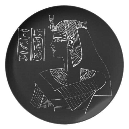 White Nefertari Melamine Plate