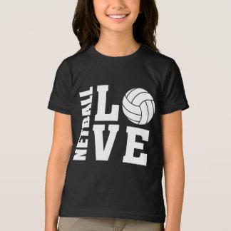 White Netball Love, Netball T-Shirt