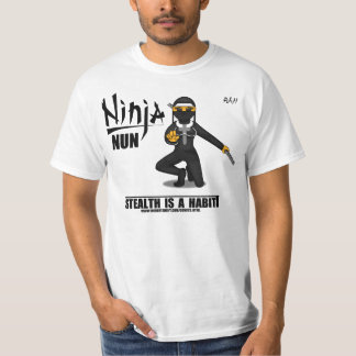 White Ninja Nun Classic T-Shirt