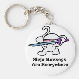 White Ninja On Guard Keychain