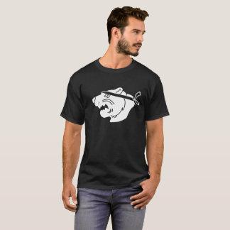 White NinjaBear Logo on black T-shirt