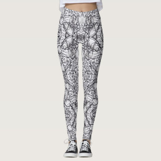 white noise collection leggings