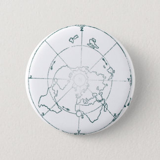 White North Pole AE Map 2 Inch Round Button