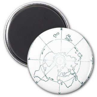 White North Pole AE Map 2 Inch Round Magnet