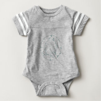 White North Pole AE Map Baby Bodysuit