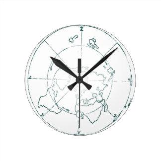 White North Pole AE Map Clocks