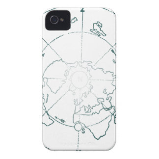 White North Pole AE Map iPhone 4 Case