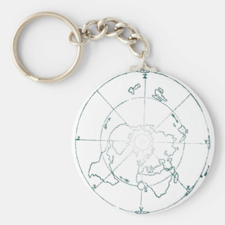 White North Pole AE Map Keychain