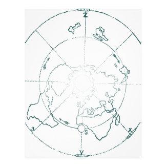 White North Pole AE Map Letterhead