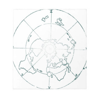 White North Pole AE Map Notepads