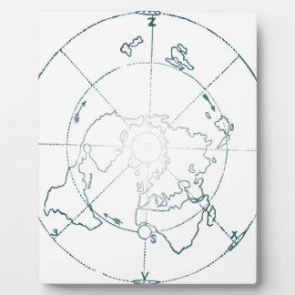 White North Pole AE Map Plaque