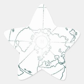 White North Pole AE Map Star Sticker