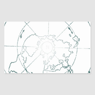 White North Pole AE Map Sticker