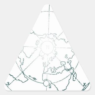 White North Pole AE Map Triangle Sticker