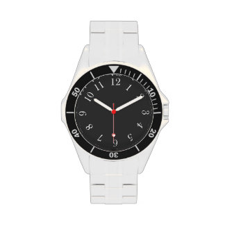 White Number Wrist Watches