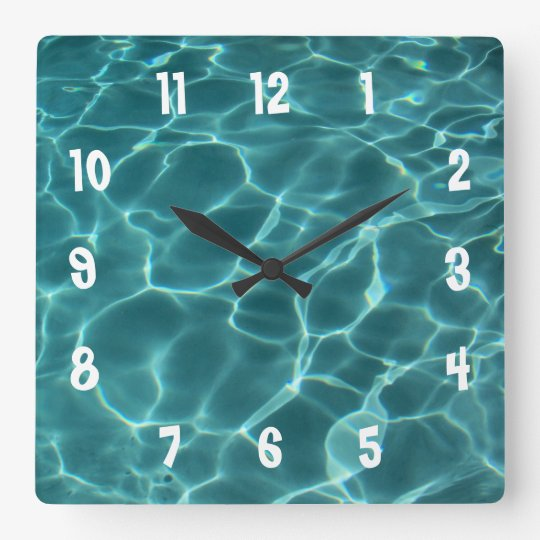 White Numbered Photo Wall Clock