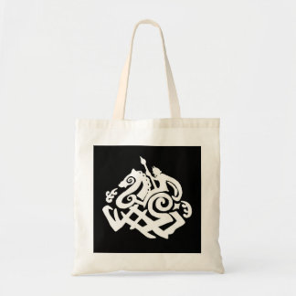 White Odin Riding Sleipnir Tote Bag