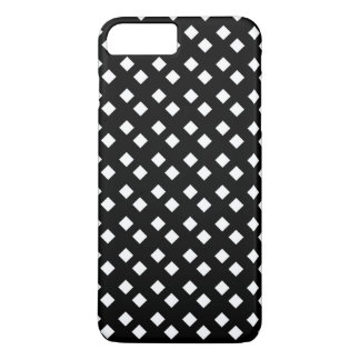 White on Black Diamond Design iPhone 7 Plus Case