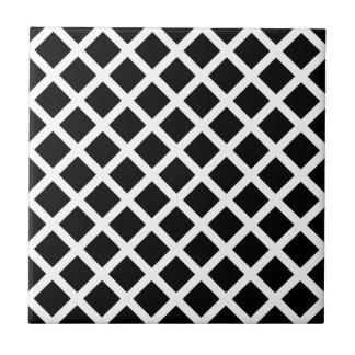 White on Black Diamond Tile