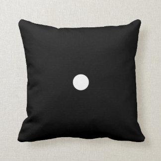 White on Black Dice # 1 Throw Pillow