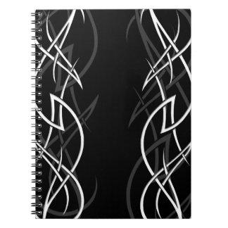 "White on Black ""Elegance"" Notebook"