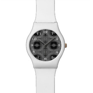 White On Black Fractal Wrist Watch May28th