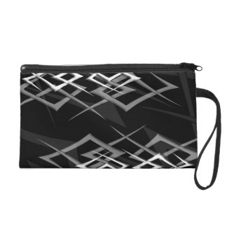 "White on Black ""Thorn"" Wristlet"