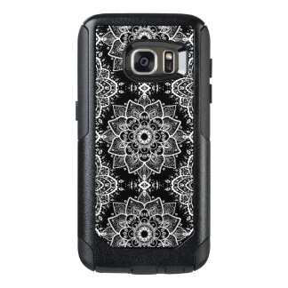White On Black White Mandala Pattern OtterBox Samsung Galaxy S7 Case