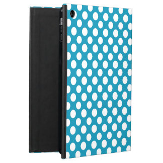 White on Blue Jumbo Polka Dots Powis iPad Case