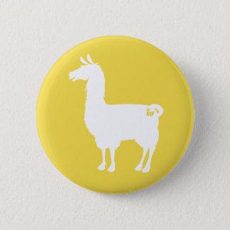 White On Colour Llama Button