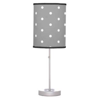 White on Grey Polka Dots Table Lamp