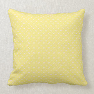 White on Lemon Yellow Faux Knitting Stitch Pattern Throw Pillow