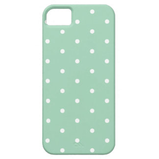White on Mint Polka Dots Case For The iPhone 5