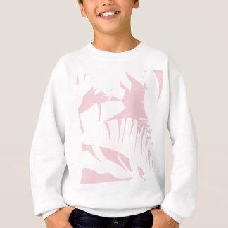 White on Pink Tropical Banana Leaves Pattern Sweatshirt