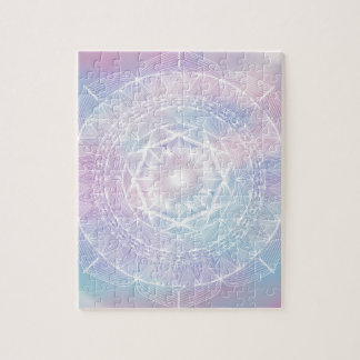 White on Watercolour Jigsaw Puzzle