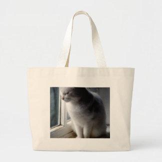 White on White Large Tote Bag