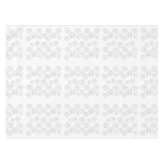 White on White Snowflake Tablecloth