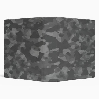 White One Touch EZD&trade Camouflage Gris Binder