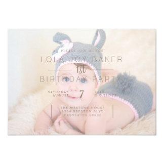 White Opaque Overlay | 1st Birthday Photo Invite