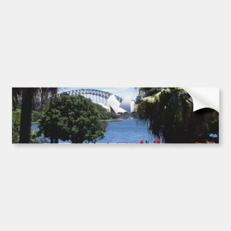 White Opera House in background, Sydney, Australia Bumper Stickers