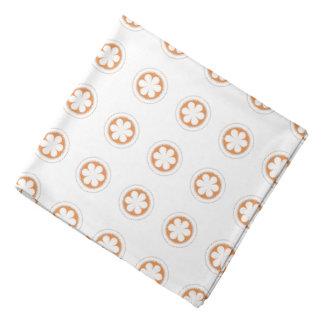 White & Orange Apple Blossoms Head Kerchiefs